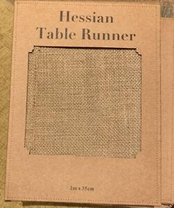 Hessian Table Runner 2m X 35cm Brand New APAC