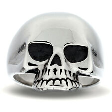 Gents Skull Ring in Stainless Steel by INOX size 13