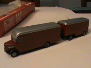 camion HO HERPA REF 143196 MAN DIESEL + REMORQUE/