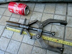 VINTAGE RARE 2 FORCES HUGE GERMANY ULMIA CLAMP VICE CARPENTRY MUSEUM TOOL