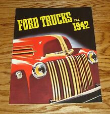 1942 Ford Trucks Sales Brochure Chassis Pickups Panel Stake Dump Truck 42