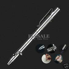 New Stainless Steel Tactical Pen With Led Light For Outdoor Emergency Survival