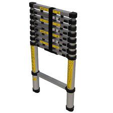 Silverline Tools 452123 Telescopic Ladder - Black