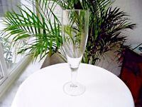"""Set of 3 High Quality 10"""" Tall Clear Crystal Pilsner Glasses"""