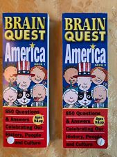 Brain Quest America Deck 1 and 2 Ages 9 and Up Set Of Two