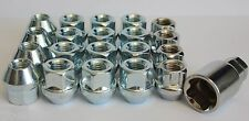 16 X M12 X 1.5 OPEN END WHEEL NUTS & LOCKING FITS VOLVO S40 S90 V50 V90