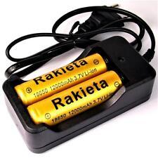 2 St. Rakieta 12000 mAh 18650 Lithium Ionen Akku 3,7 V / 45 g + Doppel Ladegerät