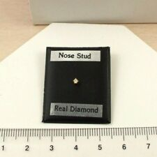 DIA93 9ct 375 Yellow Gold Real 2pt Diamond Nose Stud
