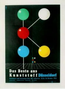 Original vintage poster KUNSTSTOFF PLASTICS GERMAN FAIR 1955