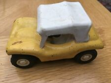 Tonka beach buggy model 9cm yellow car with roof, metal and plastic
