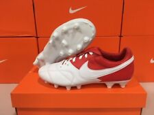 New Nike Men's Premier 2 Fg Leather Soccer Cleats (Red/White) Size: 11.5