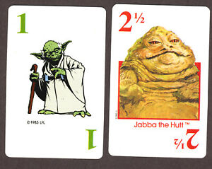 Starwars Return of the Jedi game playing cards, Parker Bros, USA, 1983