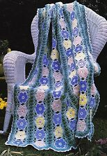 Crochet Pattern ~ Floral English Spring Garden Afghan ~ Instructions