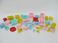 Vintage Lot of Superior (and maybe other brands) Plastic Doll House Furniture