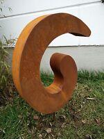 Edelrost Gartenstecker,Gartenskulptur Rost Glück Symbol Rost Figure 48*40*8 cm