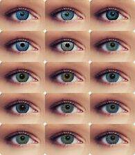 Blue colored natural looking contacts with power big eye cosplay contact lenses