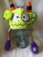 785) Flipeez Hat Green Monster Arms Move As Seen On TV Boys Toddler Child 4 5 6