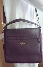 KIPLING Faux Leather & Nylon Trim Plum Messenger Crossbody/Shoulder Satchel Bag