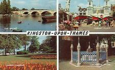 Postcard  London Kingston upon Thames multiview  unposted Salmon