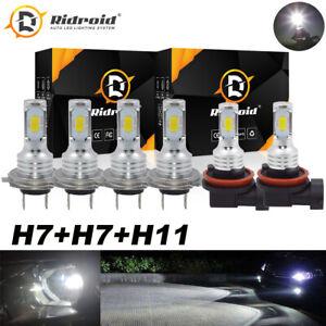 6pcs LED Headlight Combo Hi Low + Fog Light Fit For VW Jetta 15-17 Sonata 12-14