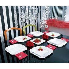 Luminarc servizio piatti per 6 persone 18 pezzi  modello Authentic bianco