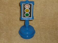 Fisher Price Little People Blue Street Traffic Stop Light Sign