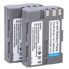 2x EN-EL3e EL3e Battery For Nikon D300S D300 D100 D200 D700 D70S D70 D80s D90