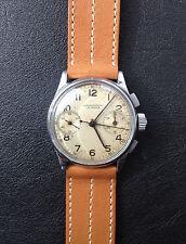 Vintage Chronographe Leonidas pre Heuer Military Chronograph Valjoux VZ 1940's