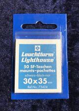 Leuchtturm 50 SF-Taschen mounts pochettes, schwarz-black-noir, 30x35 mm