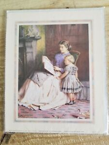 """8"""" x 10"""" Litho Print """"Mother and daughter"""".Still shrinkwrapped."""