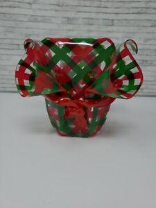 Plastic Christmas Party Ruffle Bowl