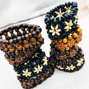 12pcs/lot Ethnic tribal Wooden Beads  Bracelets Bangle Cuff Fashion Jewelry Gift