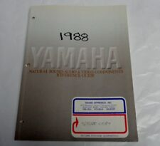1988 YAHAMA AUDIO & VIDEO COMPONENTS REFERENCE GUIDE - ORIGINAL