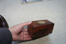 "Antique/Vintage Huali hard wood Box/Incense Burner -5-7/8""L x3""W x2-5/8""H"