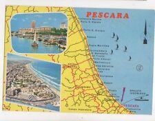 Pescara Italy 1978 Map Postcard 199b
