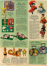 1965 ADVERTISEMENT Doll Small World Disney Pebbles Barbie Skipper Ricky Skooter