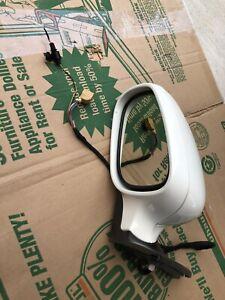 03 04 05 06 PORSCHE CAYENNE DRIVER LEFT LH SIDE POWER WHITE MIRROR 2 PLUGS LOOK!