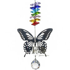 HANGING CRYSTAL BALL BUTTERFLY SUNCATCHERS WINDOW SUN CATCHER HOME GARDEN LIGHT
