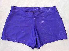 Capezio Adult Boy-Cut Low Rise Dance Shorts, M, Purple, snake skin pattern-EUC!
