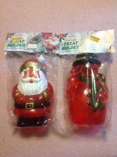 Vintage Hartin Christmas Treat Holders Santa And Snowman Very Rare NIP