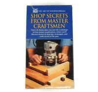 TIME LIFE The Art of Woodworking VHS Shop Secrets From Master Craftsmen NEW