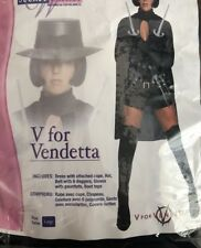 New Sexy V For Vendetta Women Halloween COSTUME Large