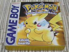 NINTENDO GAMEBOY GBA GAME BOY CLASICA POKEMON EDICIÓN AMARILLO USADO BUEN ESTADO