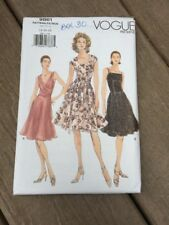 Vogue 9861 Misses Dress Size 14 16 18 Uncut Pattern Flared Skirt Pleated