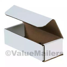 50 7x4x2 White Corrugated Shipping Mailer Packing Box Boxes