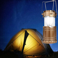 Solar USB Charging Rechargeable Outdoor Camping Tent Lantern Lights 6 LED Lamps