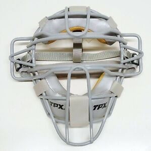 TPX Classic Baseball Traditional Gray Catchers Face Mask Adult Adjustable