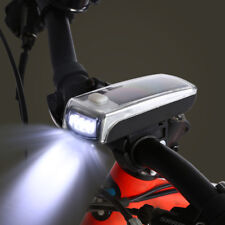 4 Modes Bike Bicycle 4 LED Solar Power USB Rechargeable Front Light Headlight