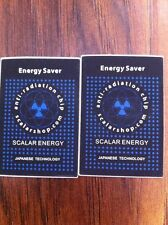 2 Anti Radiation Scalar Negative Ions Energy, Anti EMF Stickers