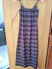 JAY JAYS Ladies Maxi Black Grey Dress adjustable straps Black Grey Size 6 VGUC
